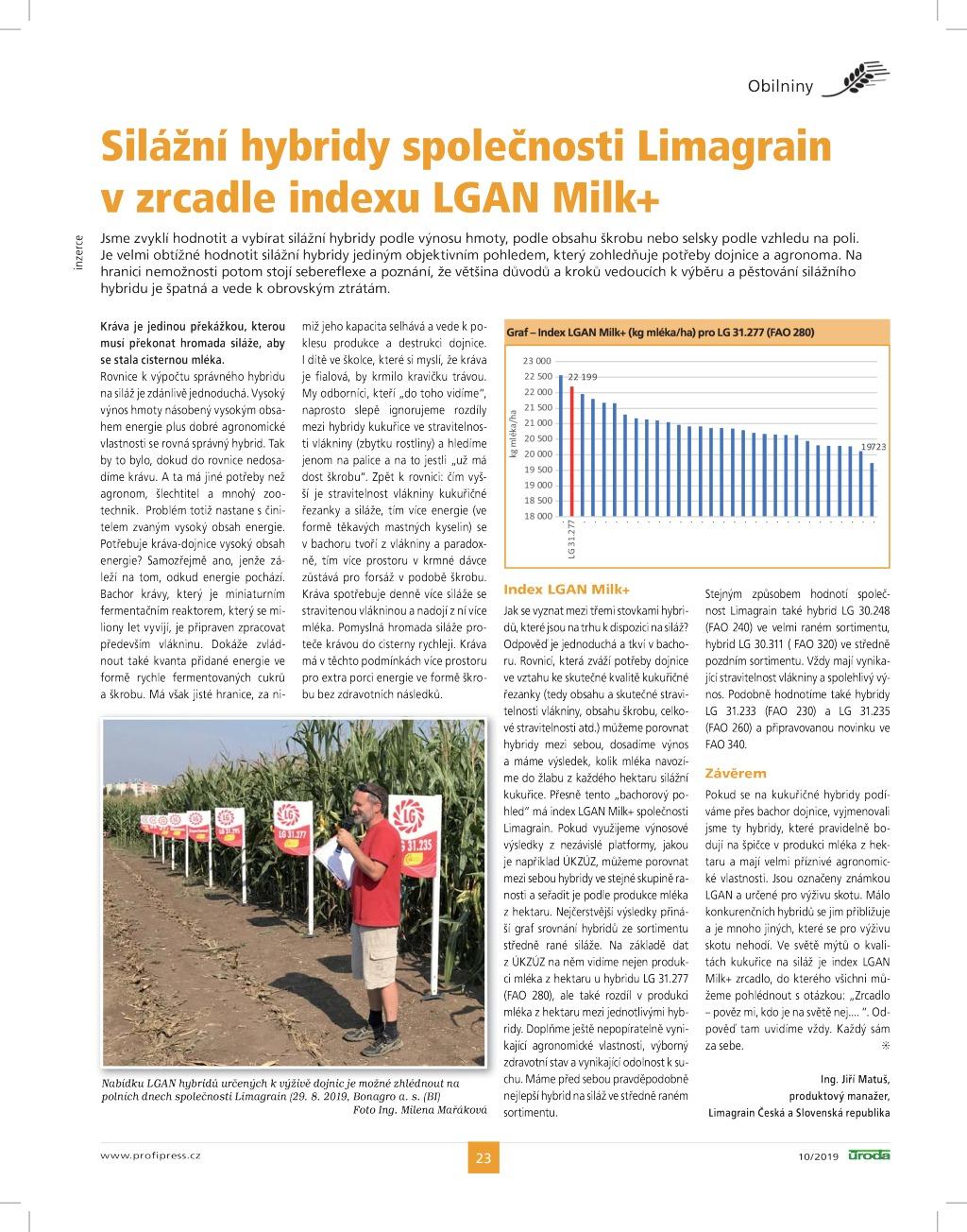 2019 CZ JIM Index LGAN Milk+_Úroda 10