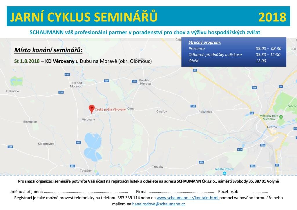 2018 CZ Schaumann Pozvánka kukuřice Věrovany - mapa