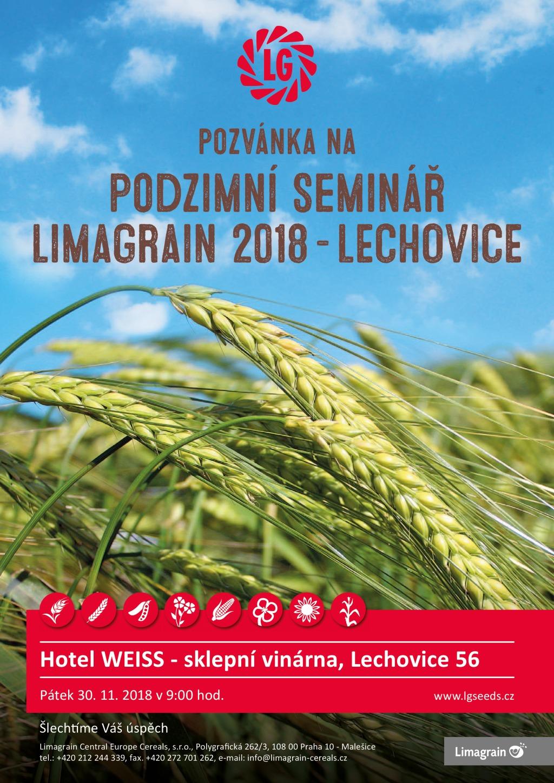 Limagrain pozvánka na Podzimní seminář Lechovice 2018