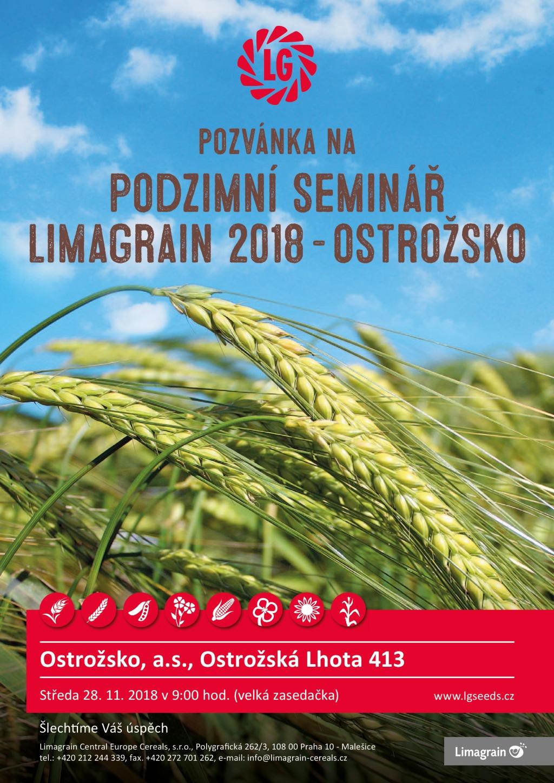 Limagrain pozvánka na Podzimní seminář Ostrožsko 2018
