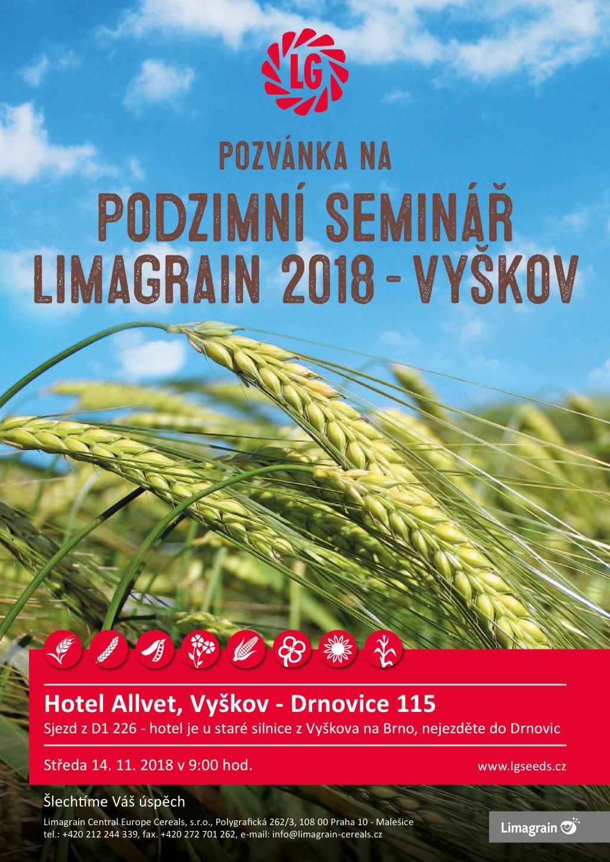 Limagrain pozvánka na Podzimní seminář Vyškov 2018