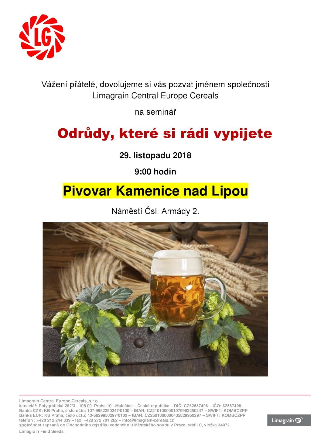 Pozvánka na seminář v Kamenici nad Lipou_