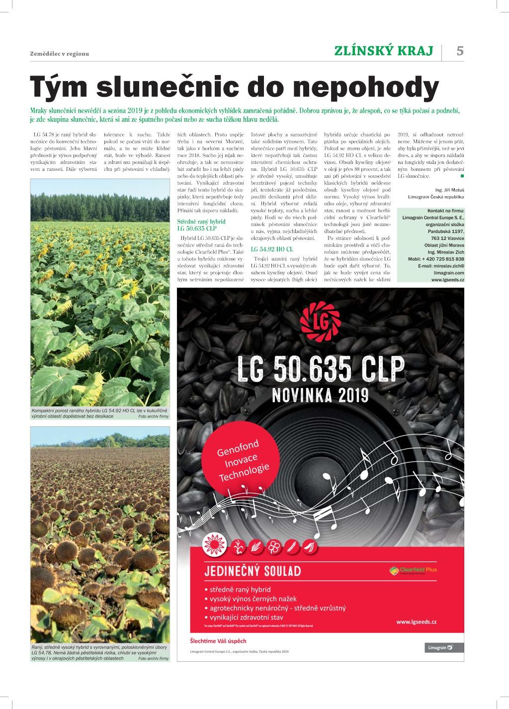2019 CZ JIM článek slunka_Zemědělec-zlínský region